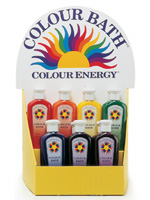 Colour Energy® BATH Bottles - Red, Orange, Yellow, Green, Blue, Indigo, Violet, Turquoise, Pink